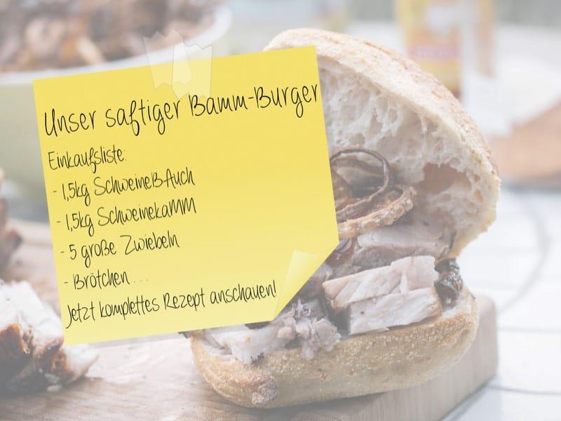 Bamm-Burger Einkaufsliste