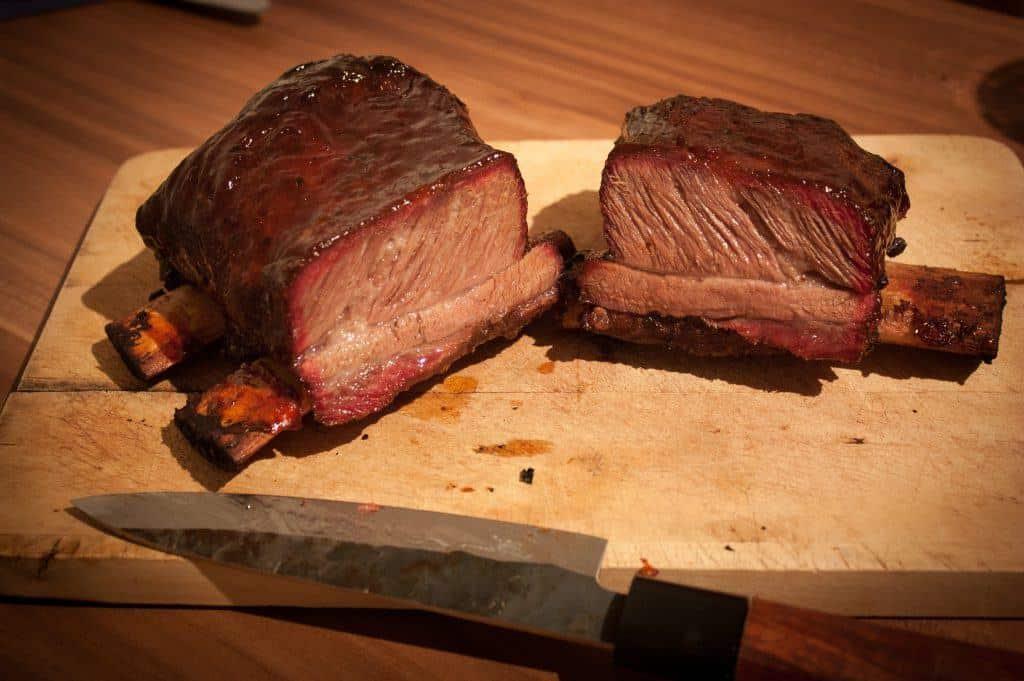 Beef short Ribs aufgeschnitten